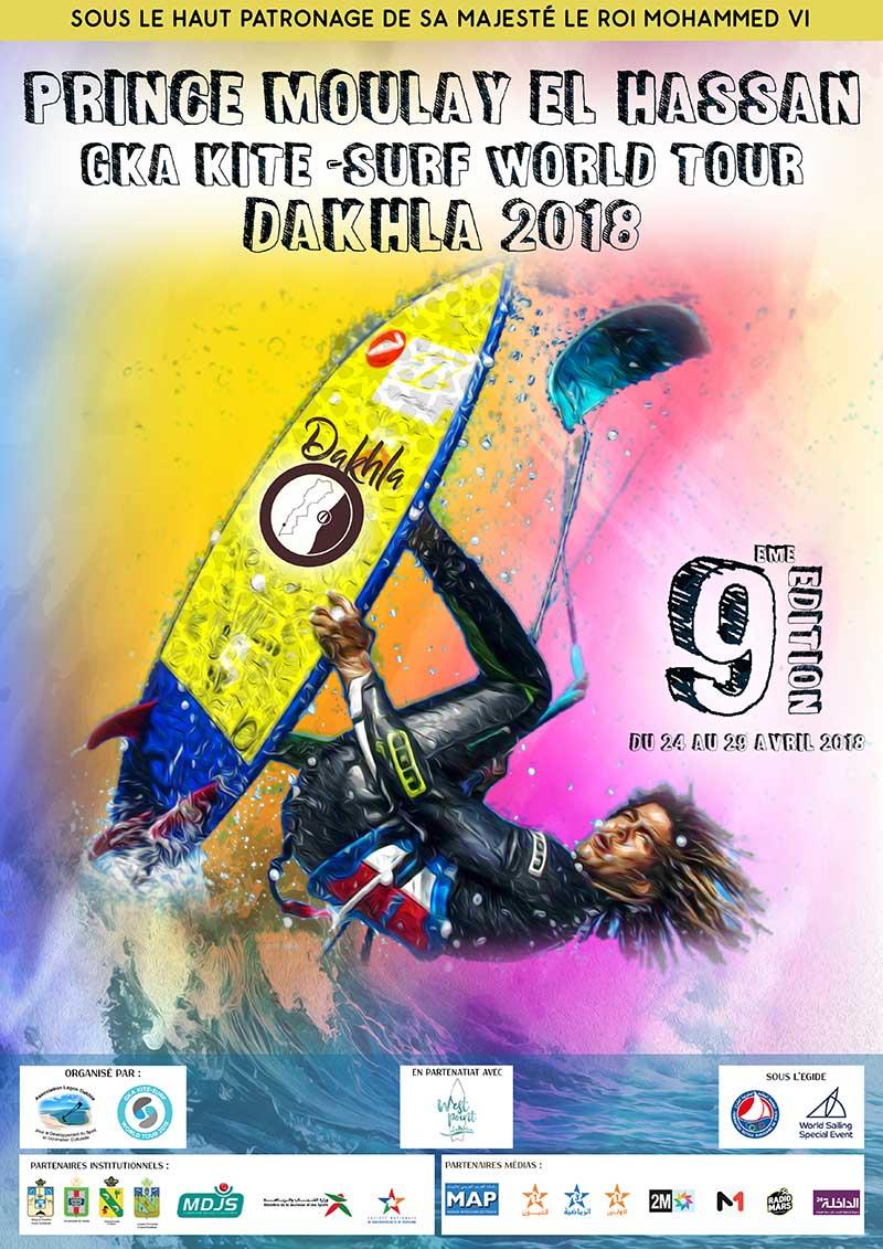 Dakhla 2018 GKA Kite-Surf World Tour event poster