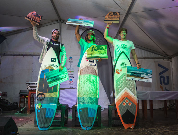 Men's Podium - GKA Cape Verde - GKA Kite-Surf World Tour 2018