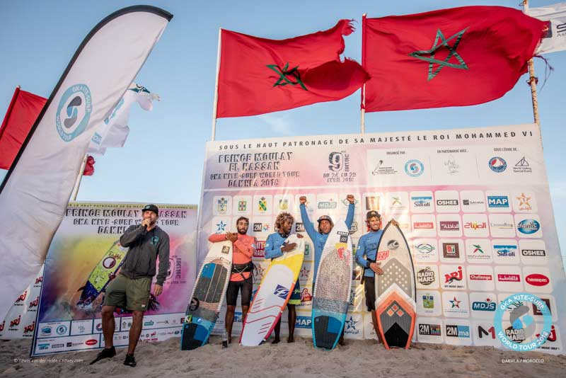 GKA Kite-Surf World Tour Dakhla 2018 - Men's Podium