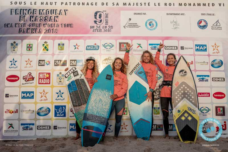 GKA Kite-Surf World Tour Dakhla 2018 Finals - Women's PodiumGKA Kite-Surf World Tour Dakhla 2018 Finals - Women's Podium
