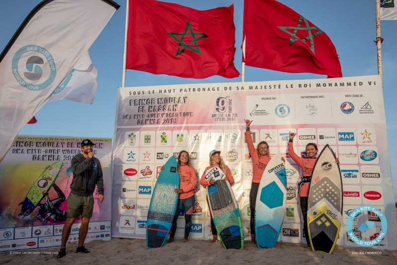 GKA Kite-Surf World Tour Dakhla 2018 - Women's Podium