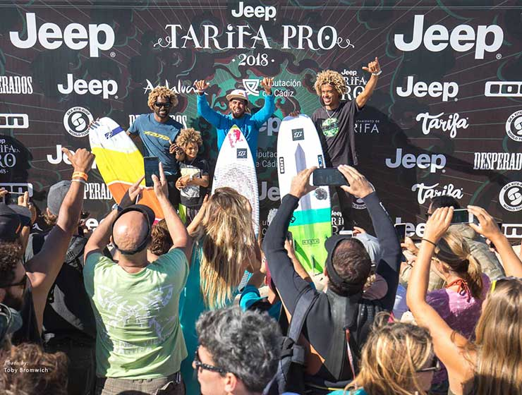 "Image for ""Here Come The Kite Loops!"" – Jeep Tarifa Pro Day 4"