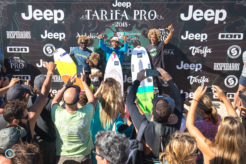 Single elimination podium Jeep Tarifa Pro KSWT