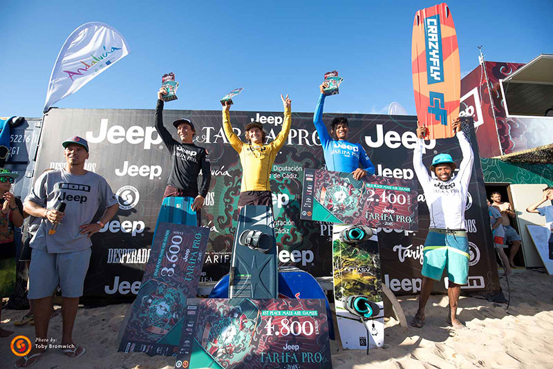 Jeep Tarifa Pro 2018 - Air Games men's podium