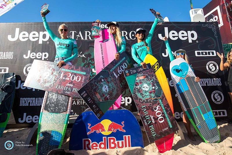 Jeep Tarifa Pro 2018 - KSWT women's podium